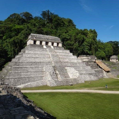 Palenque, Mayan archaeological site, Mexico.